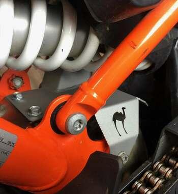 Protector de calor para el amortiguador de KTM 790 de Camel Adv