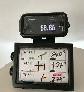 Placa de soporte de GPS/Smartphone para Roadbook Manual RB701