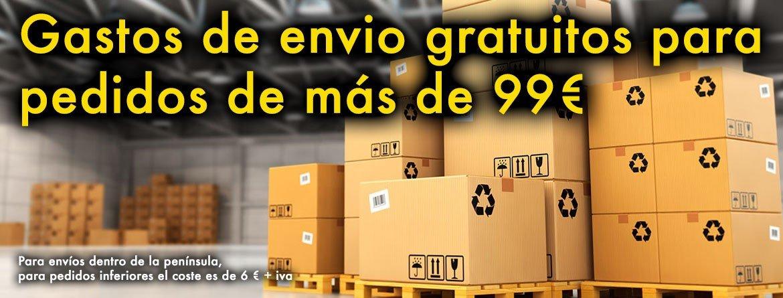 Envíos gratuitos para pedidos superiores a 99 €